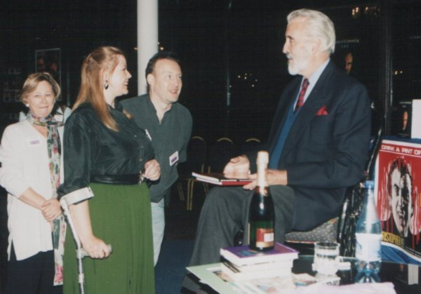 World Fantasy Convention 1997. Val Edwards, Jo Fletcher, Stephen Jones and Christopher Lee. London, November 1st, 1997