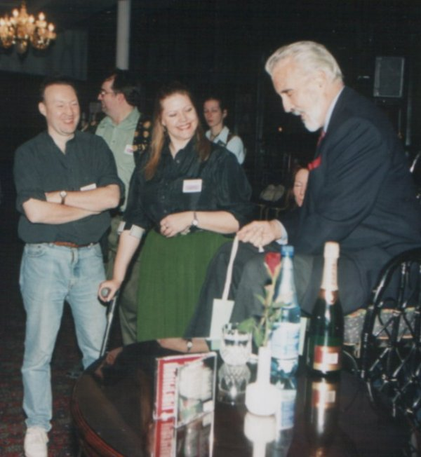 World Fantasy Convention 1997. Stephen Jones, Jo Fletcher and Christopher Lee. London, November 1st, 1997