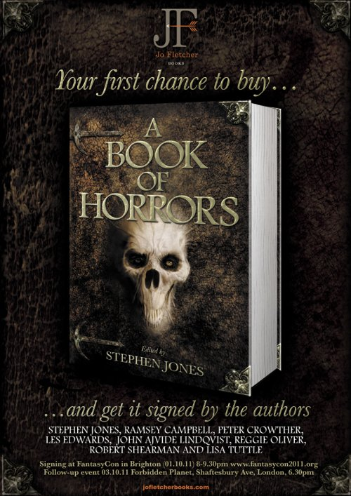 Signing for A Book of Horrors