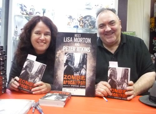 Lisa Morton and Peter Atkins signing at Dark Delicacies, Burbank, California, December 18, 2010
