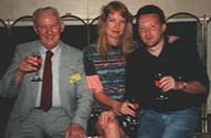 Basil Cooper, Mandy Slater  & Stephen Jones at World Horror Convention, Phoenix, Arizona (1994)