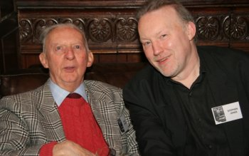 Basil Copper and Stephen Jones at the book launch (London, February 23, 2008)