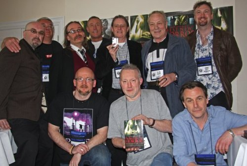 The Robinson Publishing launch of <I>The Best of Best New Horror</I>. Some books did eventually show up for the contributors to sign!