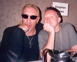 They're Not Gonna Take It—Dee Snider of rock band Twisted Sister and Stephen Jones (World Horror Convention, April 9th, 2004