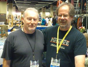 Stephen Jones with book dealer Greg Ketter
