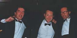 Graham Masterson, Stephen Jones & Peter James celebrate Jim and Eileen Herbert's 25th Wedding Anniversary (Brighton, 1992