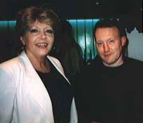 Ingrid Pitt and Stephen  Jones at James Herbert launch party (London 1999