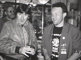James Herbert and Stephen Jones, DARK VOICES signing, London, April 7, 1990