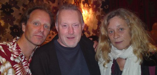 John Ajvide Lindqvist, Stephen Jones and Mia Lindqvist