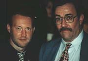 Stephen Jones and Les Daniels at World Fantasy Convention, New Orleans, Louisiana (1994