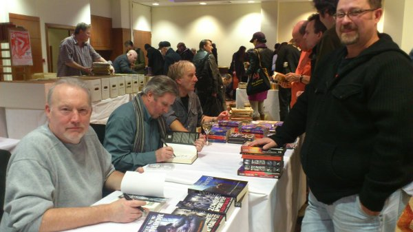 Stephen Jones, Les Edwards & Adrian Cole signing