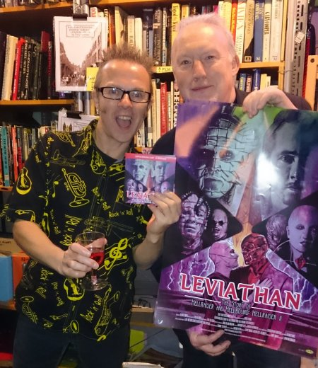 Graham Humphries and Stephen Jones at the DVD Launch of Leviathan: The Story of Hellraiser and Hellbound: Hellraiser II