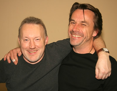 Stephen Jones and Michael Marshall Smith at FantasyCon 2007