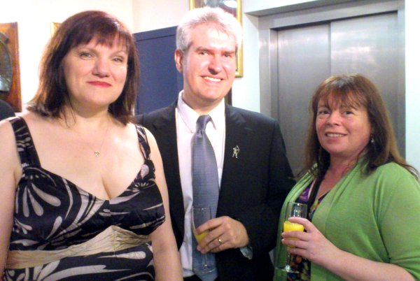 Marie O'Regan, Paul Kane and Amanda Foubister