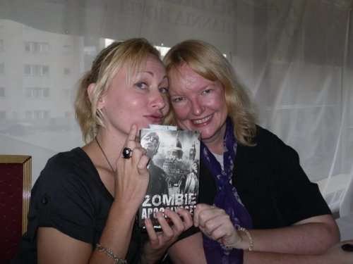 Sarah Pinborough and Mandy Slater at the book launch at FantasyCon 2010