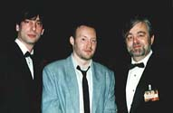 Neil Gaiman, Stephen Jones  & Dennis Etchison at the World Fantasy Convention,  Bloomington, Minnesota, 1993