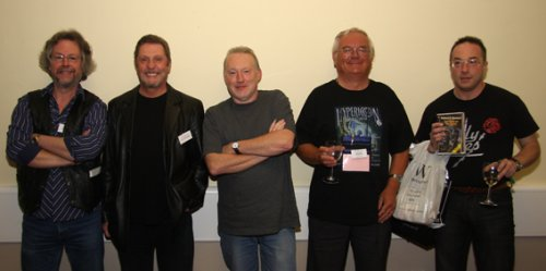 Robert E. Howard panel: Mike Chinn, Les Edwards, Stephen Jones, Ramsey Campbell and Joel Lane