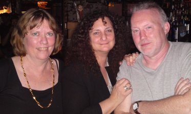 Shawna McCarthy, Ellen Datlow and Stephen Jones at The Old Absinthe House