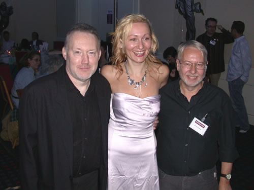 Stephen Jones, Sarah Pinborough and David Sutton at FantasyCon 2007