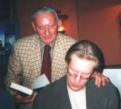 Dark Detectives Launch. Basil Copper and Randy Broecker, London, February 4, 2000