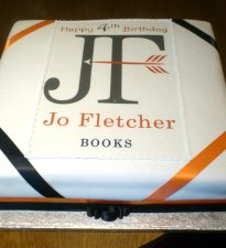 Jo Fletcher Books cake