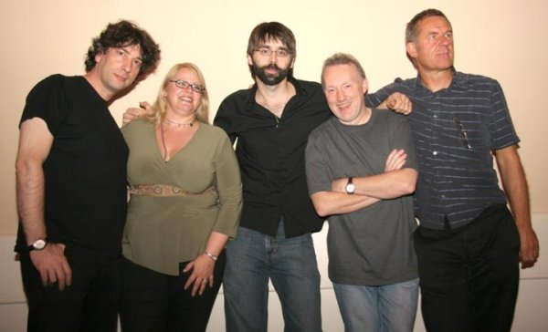 Neil Gaiman, Jo Fletcher, Joe Hill, Stephen Jones and Graham Joyce at FantasyCon, Nottingham, England, September 24, 2006
