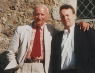Basil Copper and Stephen Jones at Knole House, Kent, circa mid-1990s