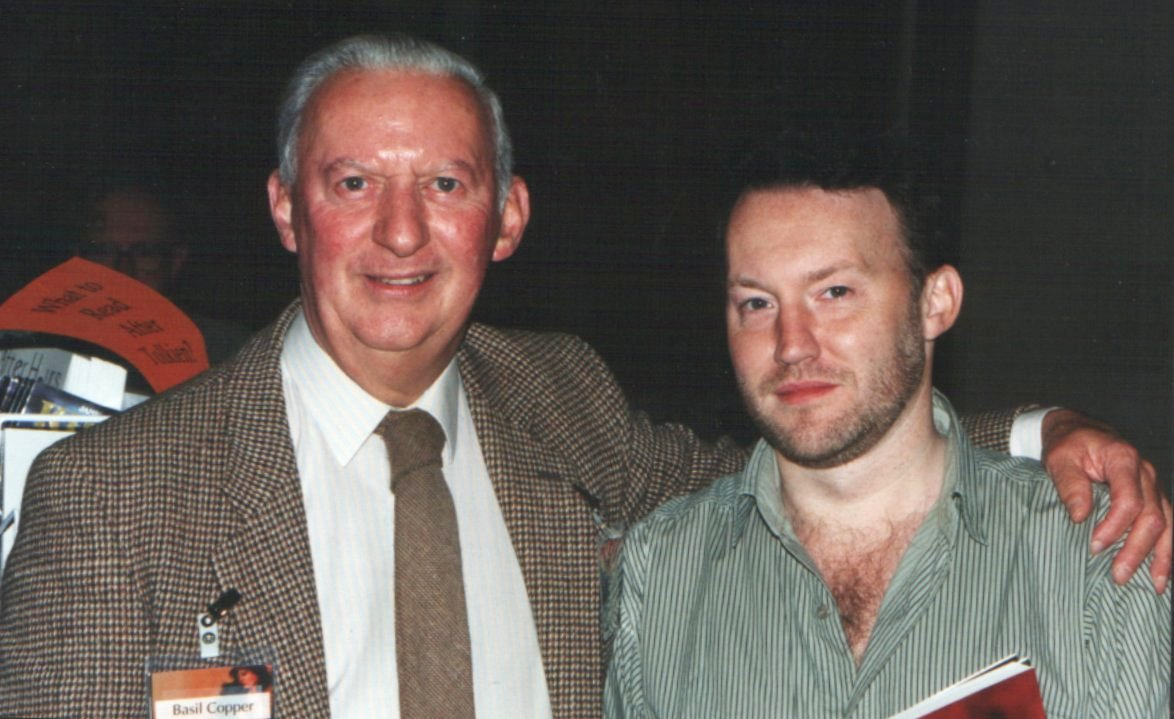 Basil Copper and Stephen Jones at World Fantasy Convention 1993, Minneapolis, Minnesota