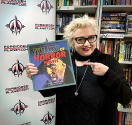 Barbie Wilde at signing in London