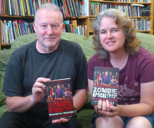 Stephen Jones and Lisa Morton, Illiad Bookshop, Los Angeles, July 27 2014