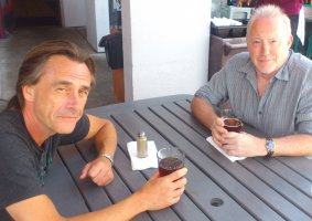More drinking in Santa Cruz with Michael Marshall Smith