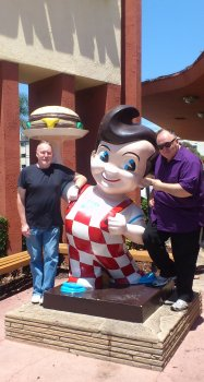Stephen Jones and Peter Atkins at Bob's Big Boy