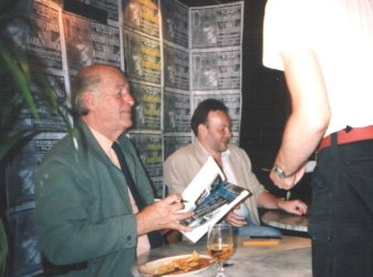 Ray Harryhausen and Stephen Jones signing at Forbidden Planet, London, August 14, 1993